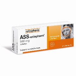ASS RATIOPHARM 500MG